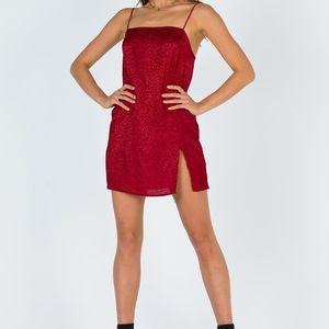 NWOT UO Motel Datista Satin Slip Dress